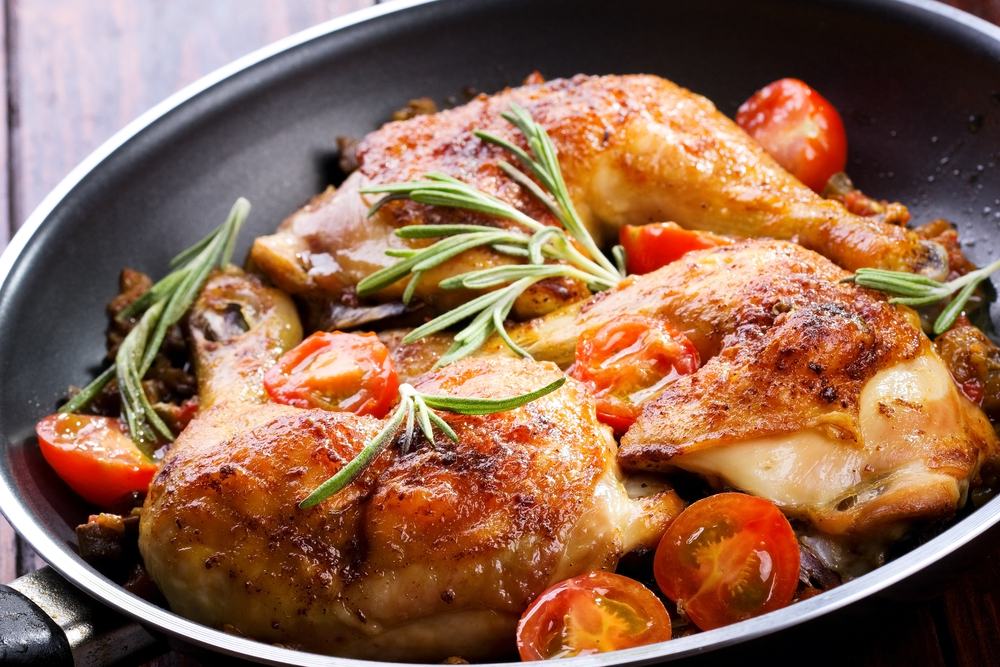 Chicken legs with apricot rosemary (1)