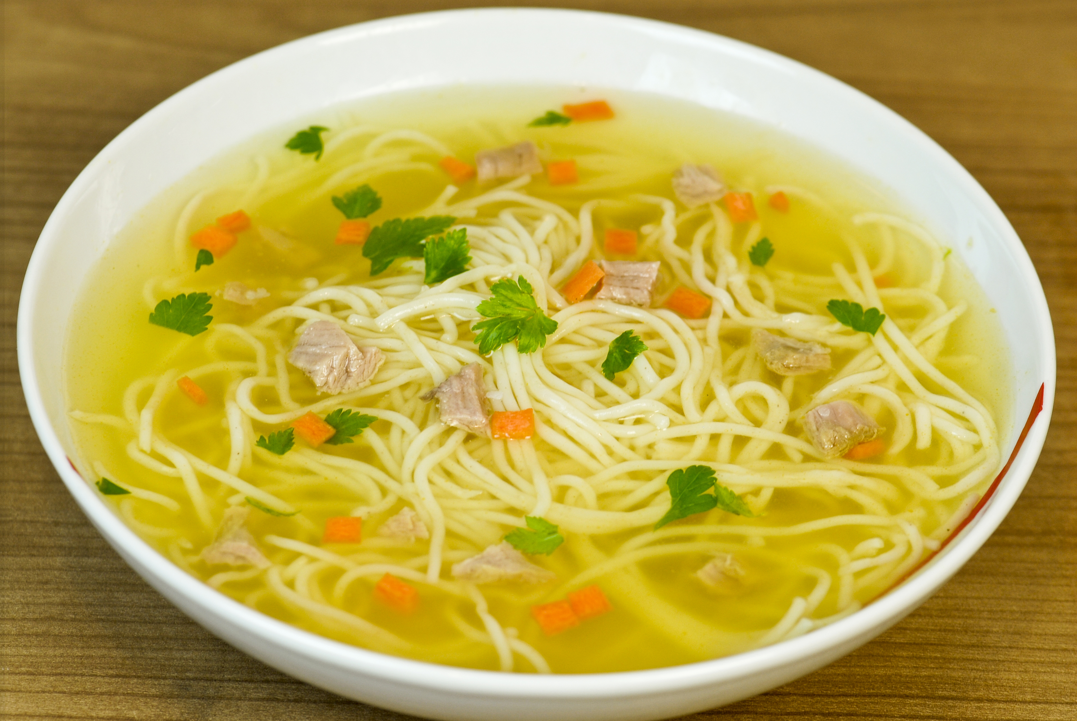 Chicken noodle soup thin noodles