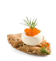 a_SALMON_ROE_ON_QUAIL_EGG_OVER_CRACKER