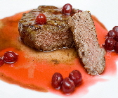 a_bison_steak_with_sour_cherries