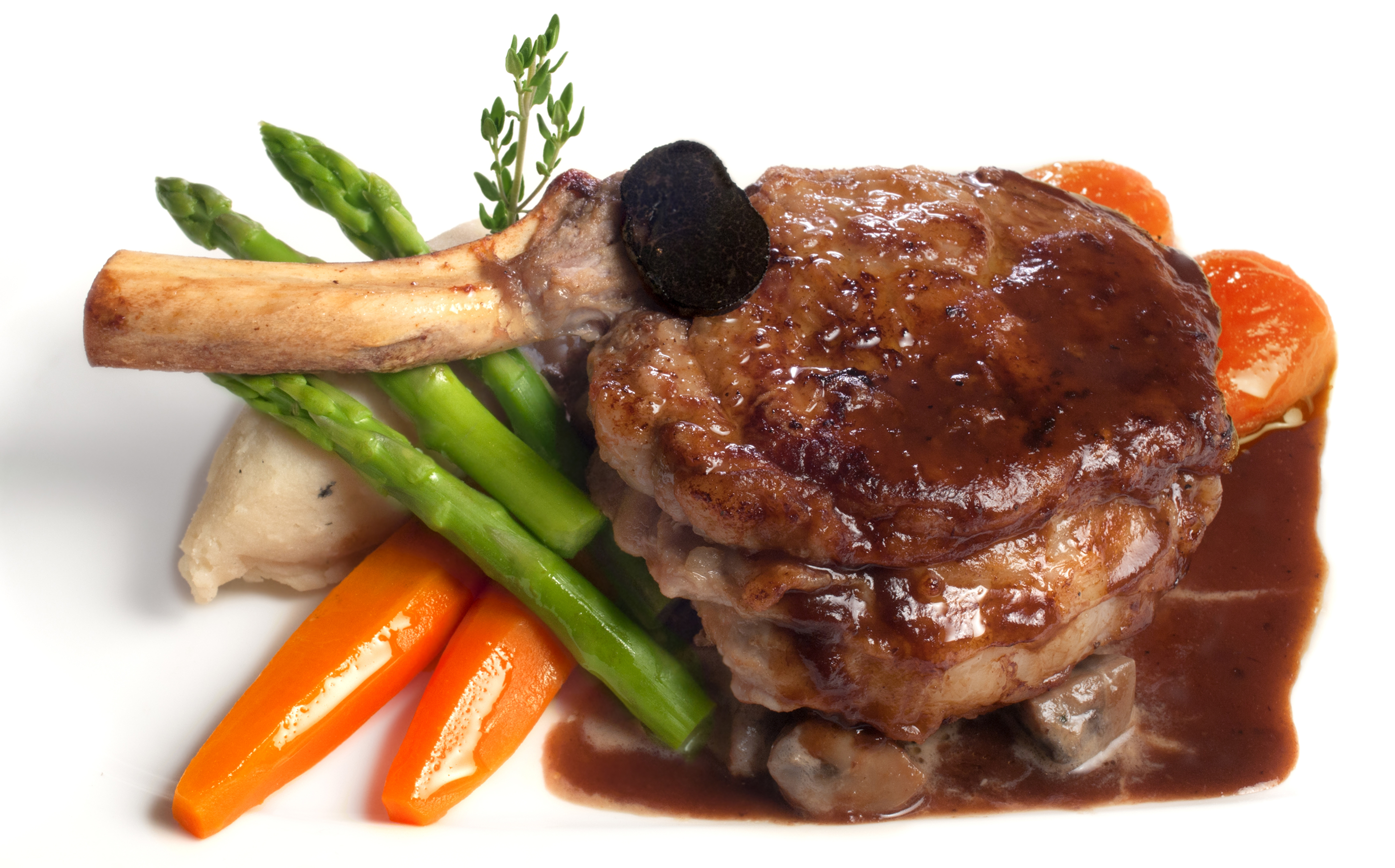 veal chop close up